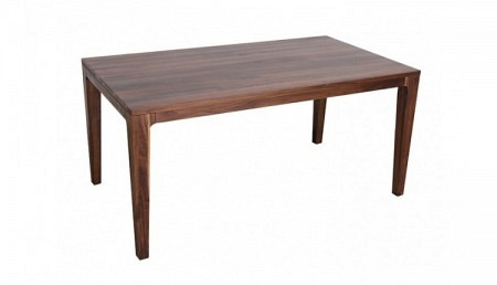 K Table en bois 160 x 90 cm YUKON, noyer, extensible de 95 cm